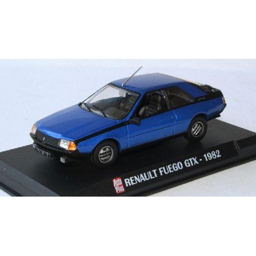 RENAULT FUEGO GTX BLEU 1982 1/43 IXO MAGAZINE MODELE ... |Blue Renault Fuego