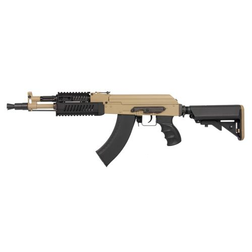 TAN AIRSOFT AEG SOFTAIR  Collapsible stock GOLDEN EAGLE