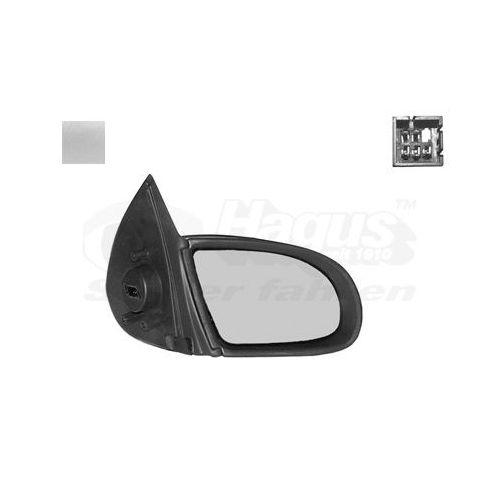 00-06 Côté Droit Chauffé porte miroir en verre rond Plaque de renforcement Vauxhall Corsa-C