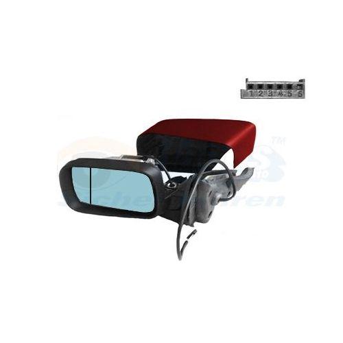 Pour Vauxhall Astra H 09-10 Gauche Asphérique électrique aile miroir de verre avec plaque
