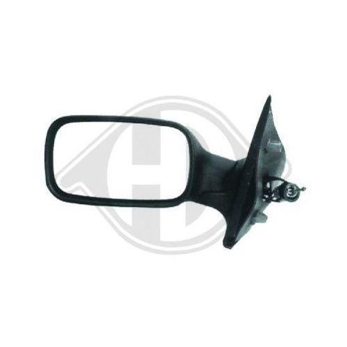 NOIR pour Renault Trafic El Pick-up 01 Rétroviseur Extérieur Droit Convexe MAN />