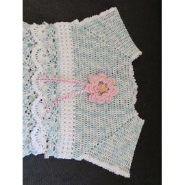 Robe Bébé 6 Mois Réalisée Au Crochet En Coton Mercerisé