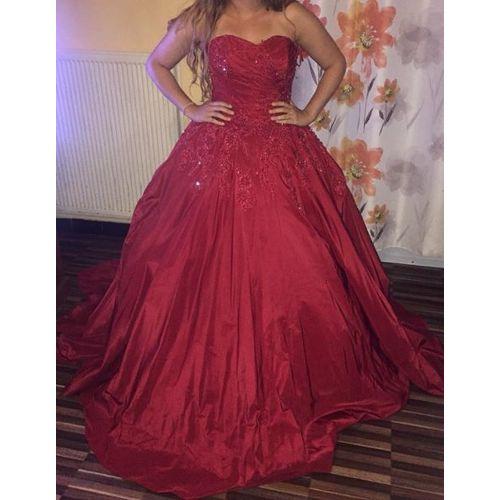 Robe De Mariee Sarah Boutique Robe Avec Corset Strass Princesse 42 Rouge