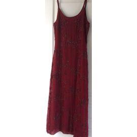 Robe La Redoute Robe Longue Acrylique 38 Rouge Rakuten