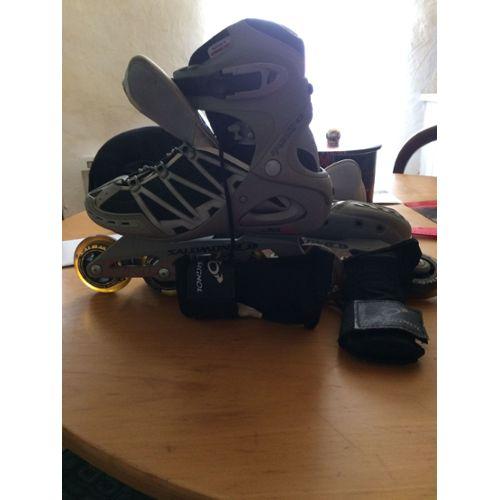 MagiDeal Set de 8pcs Vis dAxe Essieu de Patin en LIgne Accessoire Chaussures de Patin en Ligne en Alliage dAluminium