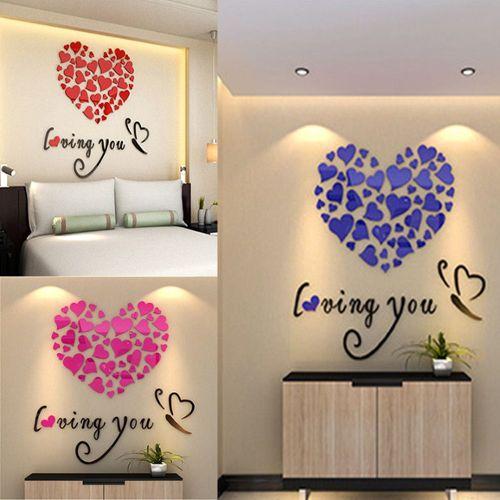 Love Coeur Flèche G Vinyle Autocollant Cadeau Craft Voiture Fenêtre Wall Art miroir