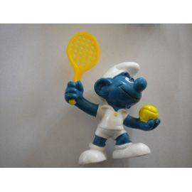 China 1979  Schleich //Smurf Tennisman raquette rouge figurine SCHTROUMPF 362B