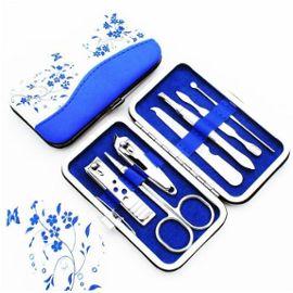 Set 7 Pcs Trousse Manucure Pedicure Kit Mallette Ongle Coupe Soins Ciseaux Lime Coffret Homme Femme Bleu Et Blanc Rakuten