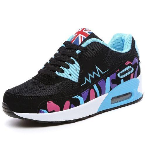 Mesdames Femmes Max Chaussures De Sport Baskets Lacets Air Shock Absorber Semelle Running Boot