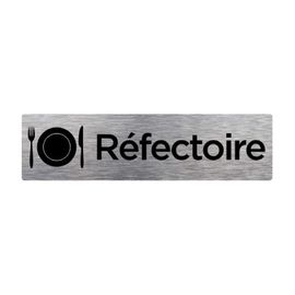 Dimensions 170 x 50 mm Aspect Aluminium Bross/é Signal/étique.biz France Sticker de Porte Accueil 2