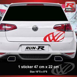 Sticker Vw Pour Coffre Arrière Golf Aufkleber Rouge