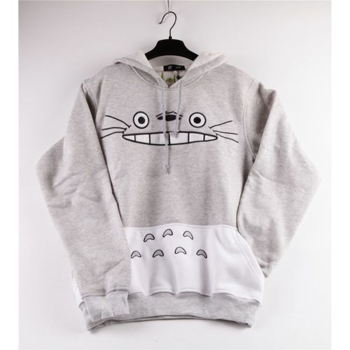 Shirt Miyazaki Confortable Chaud Mignon Capuche Kawaii Totoro Cosplay Voisin No Black Sweat Mon Fan Pull Hoodies Casual Sugar Tonari ikZOPXu