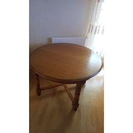 table ronde decor hetre massif dax