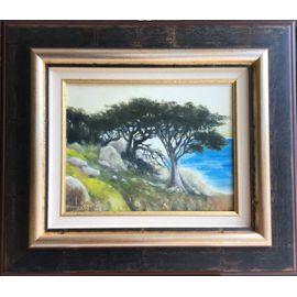 Tableau encadré peinture à l'huile signée