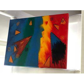 Tableau peinture acrylique sur toile - peinture