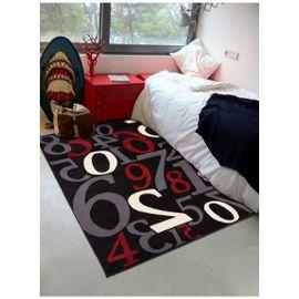 Tapis chambre BC ONE TWO THREE Noir 80 x 150 cm Tapis pour enfants chambre  par Dezenco