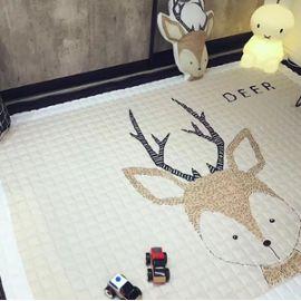 Tapis Enfant Epais Jeu Anti-dérapant Bébé Décoration de Chambre Enfant  ,145*195 CM (Deer)