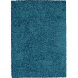 Tapis shaggy à poils longs Swirls Bleu 160x230 cm - Tapis doux pour salon