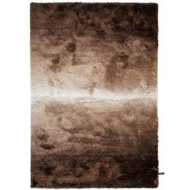 Tapis shaggy à poils longs Whisper Marron/Taupe 160x230 cm - Tapis doux  pour salon