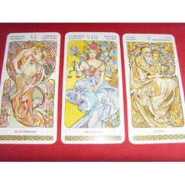 Tarot Style Mucha 78 Arcanes Jeu De Cartes Divinatoire Art Nouveau Rakuten