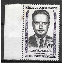 Timbre Neuf De 1958,N°1157 Héro De La Résistance:Jean Cavaillès.