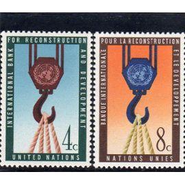 Timbres-Poste Des Nations Unies, Bureau De New-York (Banque Internationale Pour La Reconstruction Et Le Développement)