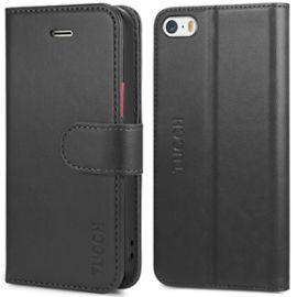 tucch coque iphone se etui iphone 5s housse tpu en cuir portefeuille de protection avec support pour iphone 5 noir avec rouge 1255569731 ML