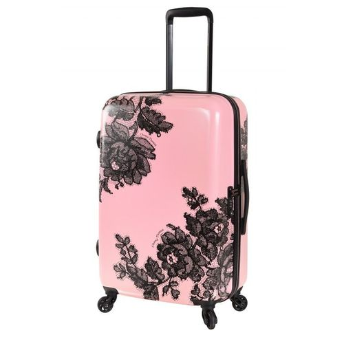 design intemporel 4628c a39ae Valise cabine rose - Dentell'Icieuse Taille S (55 cm) - Chantal Thomass
