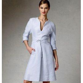 Vogue Patterns V1381 Patron De Robe Multicolore Taille 40 A 48 Rakuten