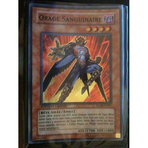 Carte Yu-gi-oh secret rare orage sanguinaire RGBT-FR000