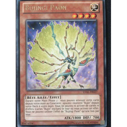 Carte Bujingi Paon par 2 !! Yu-Gi-Oh LVAL-FR027 Rare
